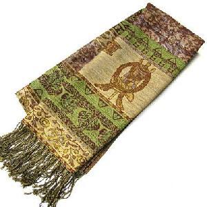 Tibetan Spun Gold Eight Treasure Shawl