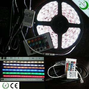 Led Dream Color Flexible Strip Light , 30leds / M, 12v , 5m / Roll, With 3m Tape, Waterproof 5050