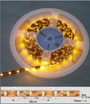 Guaranteed 100% 60pcs / M Waterproof 3528 Yellow Color Flexible Led Strip