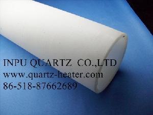 Milky Opaque , White Quartz Heating Tube