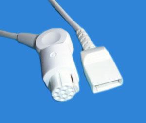 Datex-utah Ibp Cable, 12ft, Grey Cable, Round 10pin Utah-4pin