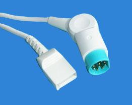 Siemens-utah Ibp Cable, 12ft, Grey Cable, Round 10pin Utah-4pin