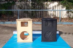 empty pro audio cabinets unload speaker