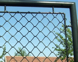 pvc coated chain link mesh chainlink fence