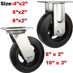 rubber iron cast wheel