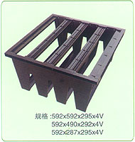 v shape filters plastic frame