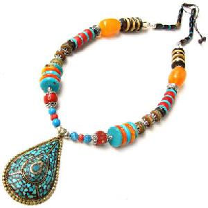 tibetan yak bone turquoise necklace