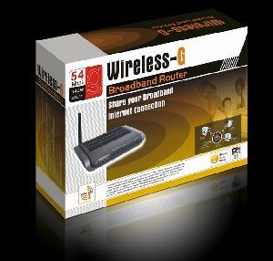 Wireless 802.11g Router 4port Complies With Ieee802.11b / G Ieee802.3 Ieee802.3u Standards