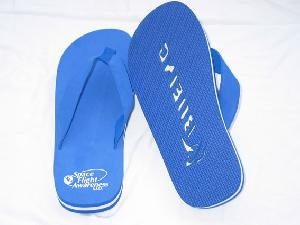 Promotional Flip Flop Slippers And Sandals With Die Cut Logo Printing