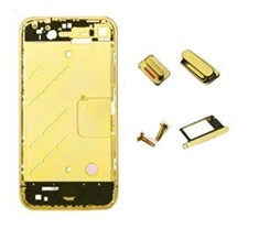 Metal Middle Plate Buttons Phillips Screw Sim Card Tray 24k Electroplating Real Gold