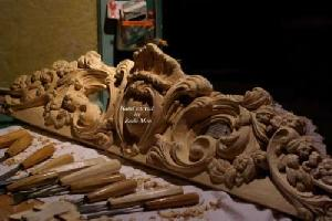 Wood Carved Elements For Furniture