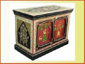 Hand Painted Tv Stand Indian Furniture