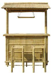 Bamboo Tiki Bar With Bamboo Tile Roof R Thatch Roof Bar Stools, Bamboo Outdoor Garden Furniture