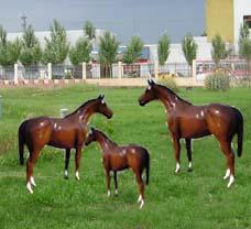 Fibre Glass Reinforced Plastic Imitation Horse Sculpture