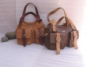 tan brown ladies leather hand bag