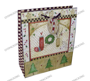 Joy The Christmas With Three Trees Paper Bag