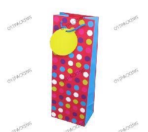Pink Blue White Green Dot Bottle Paper Bag
