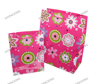 Several Shap Flower For Holiday Shinny Paper Bag