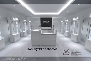 Mdf And Glass Watch Diamond Display Case, Dispaly Cabinet And Showcase For Showroom