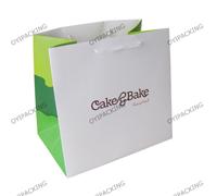 Cake Bake Promotional Green Paper Bag