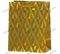 Gloden Diamond Shinny Commercial Shopping Paper Bag