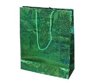 green leopard shinny paper bag