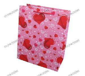 love heart valentine festival paper bag