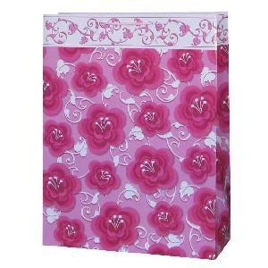 pink rose love shopping bag