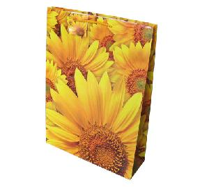 sunflower colored shopping bag festival
