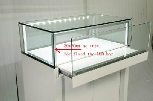 glossy wood jewelry store display furniture show counter
