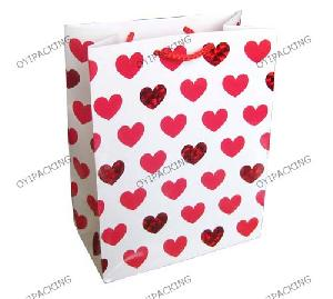 love heart valentine paper bag