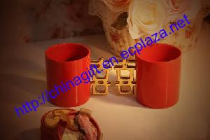 blessing happiness mug gold silver handle